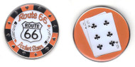ROUTE 66 (Pocket Sixes) Poker Card Cover