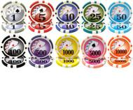 50 YIN YANG 13.5gm CLAY Poker Chips