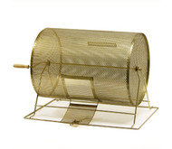 Large Heavy Duty Brass Raffle Drum - Fits Up To 10,000 Tickets