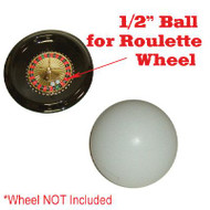 Set of 2 Ceramic 1/2 Inch  Replacement Roulette Balls (Pills)
