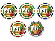 ACE KING 777 CLAY 11.5g Poker Chip Sample Set - 5 Different Chips!