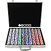 1000PC SUITED HOLDEM 11.5GM POKER CHIP SET WITH ALUMINUM CASE