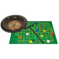 Portable Home Style Roulette Set with 10 Inch Mini-Wheel
