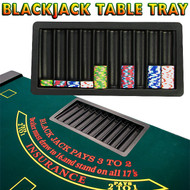 10 ROW Blackjack TABLE CHIP TRAY - FITS 500 CHIPS