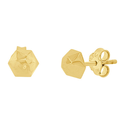 3af98713b 14kt Gold Yellow Stud Earring E077-025 | GiveMeGold