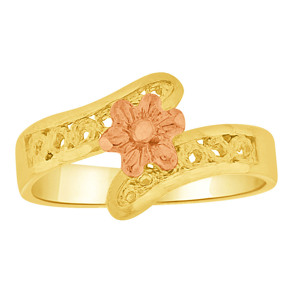 2de17c406 ... Gold, Small Baby Child Kid Ring Filigree Flower Design (R251-010). Loading  zoom