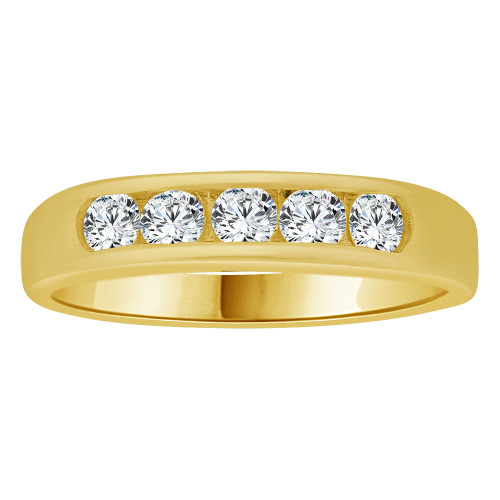 14k White Gold, Child Adult Pinky Toe Compatible Small Size Ring Created CZ Crystals (R264-050)