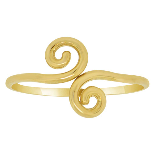 14k Yellow Gold, Swirl Figure 8 Design Ring (R145-016)