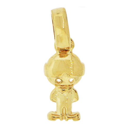 14k Yellow Gold, Adorable Small Boy Pendant Charm Polished (P058-022)
