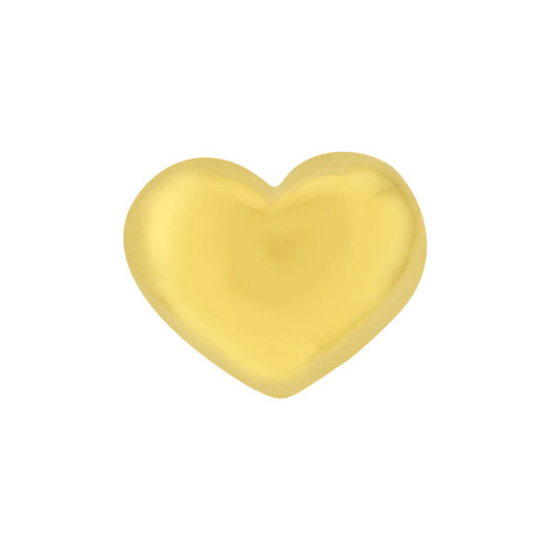 14k Yellow Gold, Mini Size Polished Slider Heart Pendant Charm (P063-012)