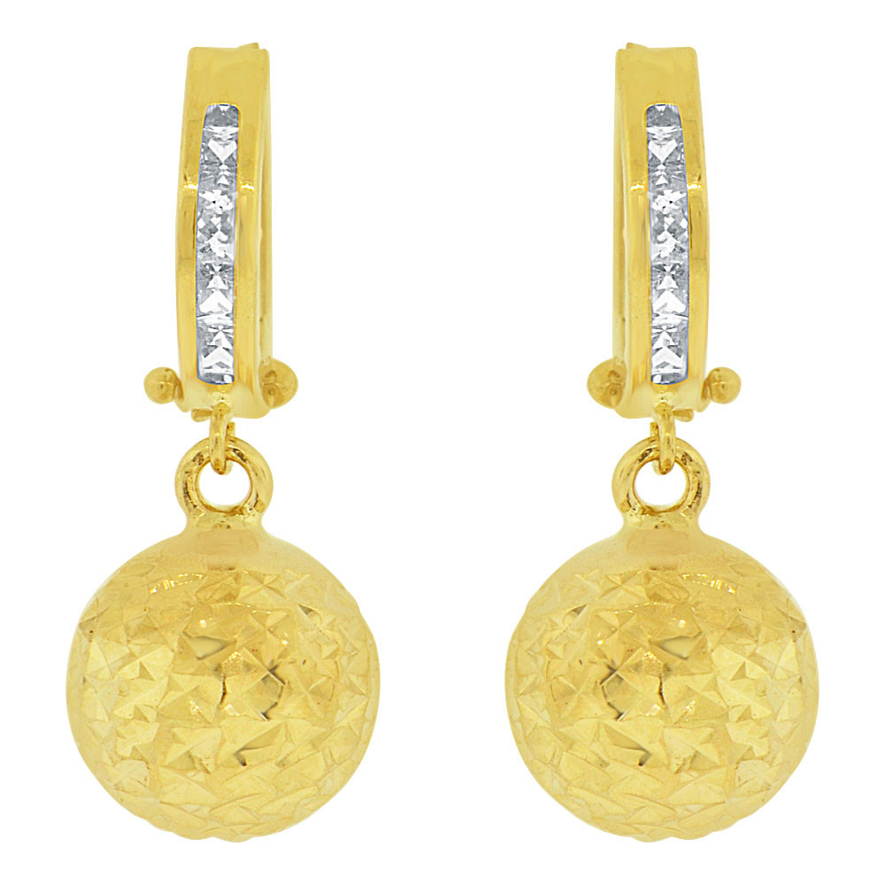 49a935729 14kt Gold Yellow Huggies Earrings E018-032 | GiveMeGold