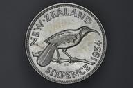 New Zealand - 1934 - Sixpence - KM2 - Uncirculated