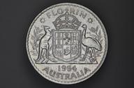 Australia - 1954 - Florin - KM54 - Uncirculated