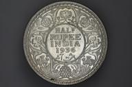 India - 1936 - Half Rupee - Calcutta - KM522 - (OM-A1248)
