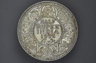 India - 1936 - Half Rupee - Bombay - KM522 - (OM-A1244)