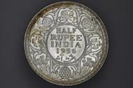 India - 1936 - Half Rupee - Bombay - KM522 - (OM-A1241)