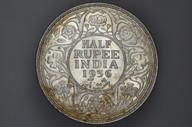 India - 1936 - Half Rupee - Bombay - KM522 - (OM-A1240)