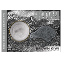 New Zealand - 2019 - Silver Dollar Specimen Coin - Brown Kiwi