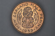 New Zealand - 1953 - Half Penny - KM23 - Uncirculated