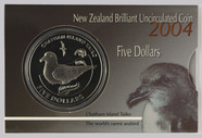 New Zealand - 2004 - $5 Uncirculated Coin - Chatham Islands Taiko