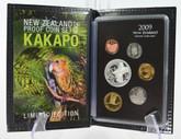 New Zealand - 2009 - Annual Proof Coin Set - Kakapo