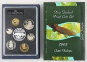 New Zealand - 2003 - Annual Proof Coin Set - Giant Kokopu