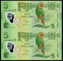 Fiji - $5 Consecutive Pair ZZ Prefix - Replacement Notes - Uncirculated