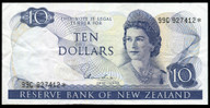 New Zealand - $10 - Star Note - Hardie - 99C 927412* - Very Fine