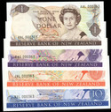 New Zealand - $1 $2 $5 $10 - Hardie - Matched Set - 000363 - Uncirculated