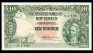 New Zealand - 10 Pounds - AL Prefix - Fleming - AL174486 - Almost Uncirculated