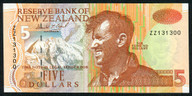 New Zealand - $5 Star Note - Brash - 'Type 3' - ZZ131300