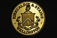 New Zealand - 1990 - Wellington Coin Club - Kirkcaldie & Stains 150 Years - Brass
