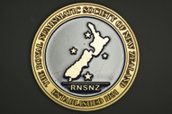 New Zealand - 2012 - RNSNZ Service Medal - Brass With Blue Enamel