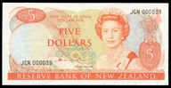 New Zealand - $5 - Russell - JCN000039 - Low Serial - Uncirculated