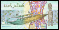 Cook Islands - $3 $10 $20 Note Set - First Prefix - Serial #56 - Uncirculated
