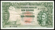 New Zealand - 10 Pounds - AE Prefix - Fleming - 273145 - Almost EF