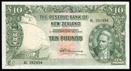 New Zealand - 10 Pounds - AL Prefix - Fleming - 262494 - Extremely Fine