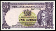 New Zealand - 1 Pound - 265 Prefix - Fleming - 529665 - Uncirculated