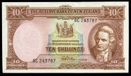 New Zealand - 10 Shillings - 8C Prefix - Fleming - 243787 - Uncirculated