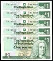 Scotland - One Pound - 5 Consecutive -  C/5 819705 - C/5 819709 - P351c - aUnc