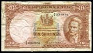 New Zealand - 10 Shillings - A/6 Prefix - Wilson - 334976 - Very Good