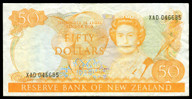 New Zealand - $50 - Hardie 'Type 2' - XAD046685 - Good Very Fine