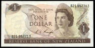 New Zealand - $1 - Knight - B21 957713 - Almost Uncirculated
