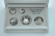 New Zealand - 1989 - Annual Proof Coin Set - Commonwealth Games