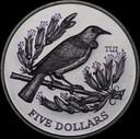 New Zealand - 1995 - Five Dollars - Tui - KM93