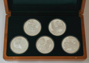 New Zealand - 2009 - Silver Proof Coin Set - Giants Of New Zealand