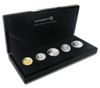 New Zealand - 2012 - Silver Proof Coin Set - 10c To $2 [With Gold 10c]