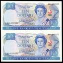 New Zealand - 1990 - $10 Commemorative Notes - Uncut Pair (OM-BN1678)