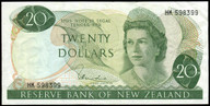 New Zealand - $20 Note - Hardie 'Type 1' - HK598399 - Very Fine