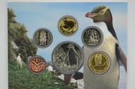New Zealand - 2011 - Annual Uncirculated Coin Set - Yellow Eyed Pengiun